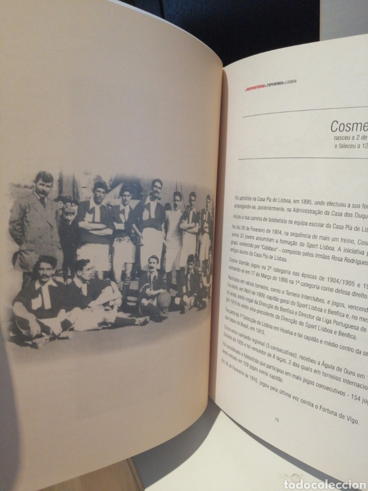 Libros: OS DEPORTISTAS NA TOPONOMIA DE LISBOA. CAMARA MUNICIPAL DE LISBOA - Foto 2 - 209601097