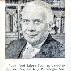 Libros: LA AVENTURA HUMANA.JUAN JOSE LOPEZ IBOR. Lote 249125560