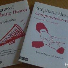 Libros: STEPHANE HESSEL. 2 LIBROS: INDIGNAOS / COMPROMETEU-VOS.. Lote 276226168