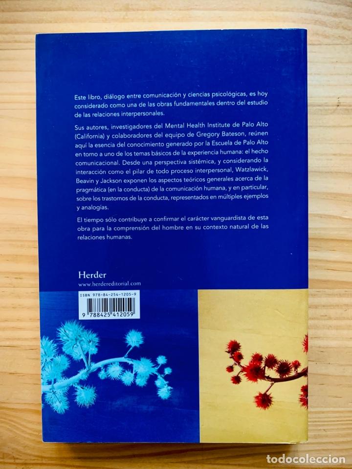 Libros: Teoría De La Comunicación Humana: Interacciones, patologías y paradojas de Paul Watzlawick - Foto 2 - 287247263