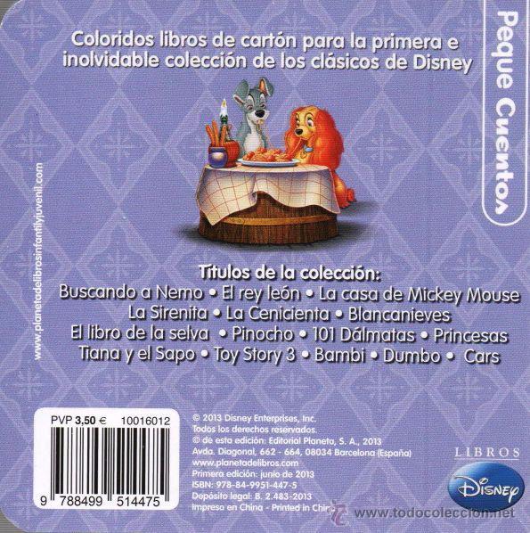 Libros: LA DAMA Y EL VAGABUNDO - PEQUECUENTOS DISNEY- PLANETA, 2013 (NUEVO) - Foto 2 - 178841373