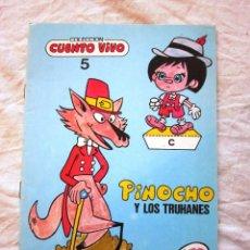 Libros: RECORTABLE Nº 5. COLECCION CUENTO VIVO. PINOCHO Y LOS TRUHANES. RECORTABLES. ED. MUNDIAL.1985. NUEVO. Lote 69022893