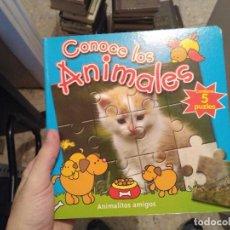 Libros: CONOCE LOS ANIMALES - 5 PUZLES. Lote 83518016
