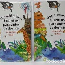 Libros: CUENTOS PARA ANTES DE DORMIR DE ANIMALES TOMOS 1 Y 2 EVEREST TAPA DURA. Lote 97647223
