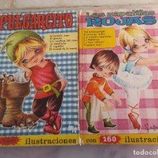 Libros: DOS LIBROS EDITORIAL HEIDI - PULGARCITO Y LAS ZAPATILLAS ROJAS -. Lote 102767679
