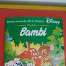 Libros: CUENTO CON ACTIVIDADES BAMBI DISNEY.EDICIONES GAVIOTA 1993.NUEVO. Lote 103747515