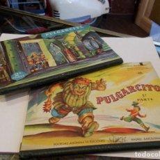 Libros: PULGARCITO CUENTO CON DIORAMAS DESPLEGABLES PRIMERA Y SEGUNDA PARTE BUEN ESTADO (B). Lote 113999851