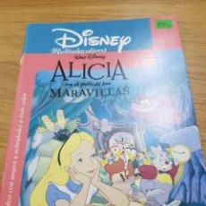 Libros: DISNEY MULTIEDUCATIVOS. ALICIA EN EL PAÍS DE LAS MARAVILLAS.. Lote 118301674