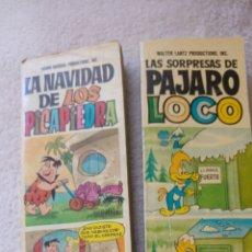 Libros: NAVIDAD DE LOS PICAPIEDRA/LA SORPRESA PÁJARO LOCO. Lote 121144602