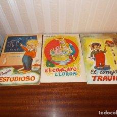 Libros: LOTE DE TRES CUENTOS AÑOS 60 DEL CONEJITO. Lote 128722143