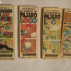 Libros: LOS PICAPIEDRA, EL PÁJARO LOCO, BUGS BUNNY Y COPITO. Lote 121144602