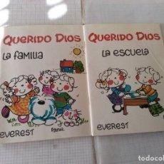 Libros: 2 CUENTOS INFANTILES QUERIDO DIOS, EVEREST. Lote 143386750