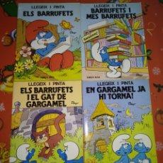 Libros: LOTE LLEGEIX I PINTA ELS BARRUFETS. Lote 145716749
