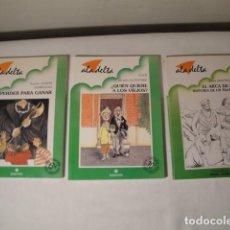 Libros: 3 LIBROS-RELATOS. ALTA DELTA. EDELVIVES. NUEVOS.. Lote 155300606