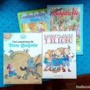 Libros: CUENTOS INFANTILES LOTE DE 4 CUENTOS MUY BUEN ESTADO LAS AVENTURAS DE DON QUIJOTE LOS SIETE CABRITOS. Lote 159188010