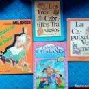 Libros: CUENTOS INFANTILES LOTE DE CUATRO CUENTOS CAPERUCITA ROJA LOS TRES CABRITILLOS TRAVIESOS.... Lote 159192922