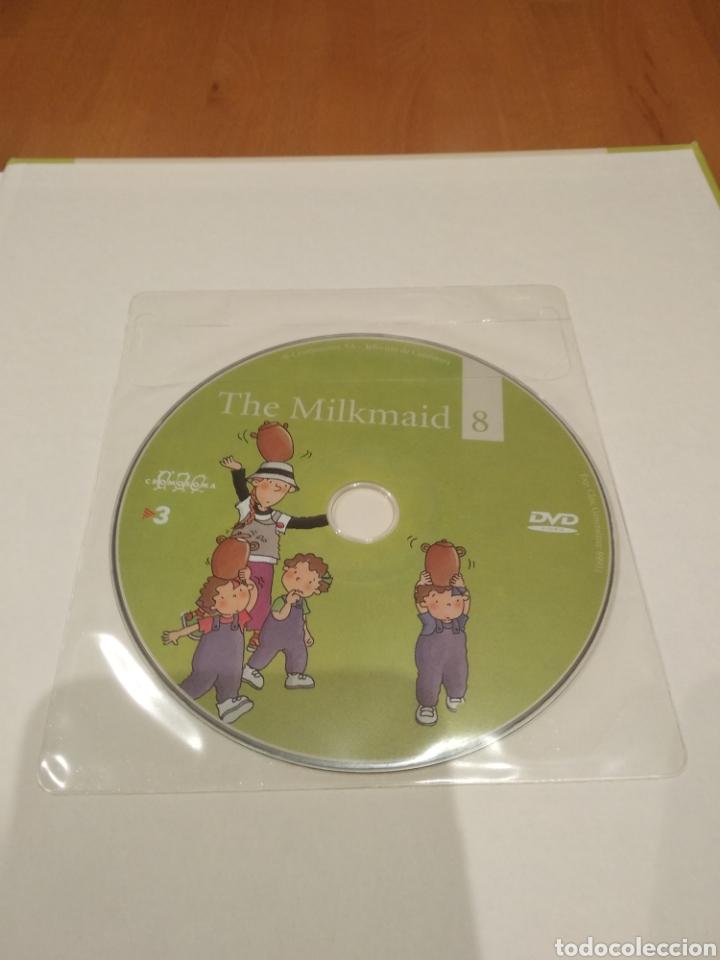 Libros: Els contes contats. Anglès fàcil amb les tres bessones. The milkmaid. La lletera, amb dvd - Foto 2 - 162086280
