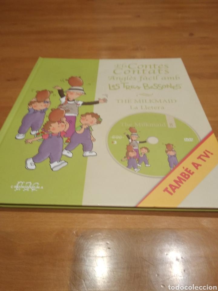 Libros: Els contes contats. Anglès fàcil amb les tres bessones. The milkmaid. La lletera, amb dvd - Foto 3 - 162086280