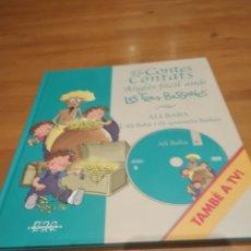 Libros: ELS CONTES CONTATS. ANGLÈS FÀCIL AMB LES TRES BESSONES. ALI BABA I ELS QUARANTA LLADRES, AMB DVD. Lote 162092924