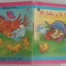 Libros: MINI CUENTO EL LOBO Y LA AVEJA N.35 OBSEQUIO DE POCHAS EL PILAR. 1976. Lote 163783545