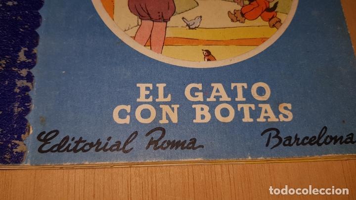 Libros: EL GATO CON BOTAS EDITORIAL ROMA COLECCION CIERTO DIA Nº8 CUENTOS PARA EL PEQUEÑIN - Foto 3 - 169280048