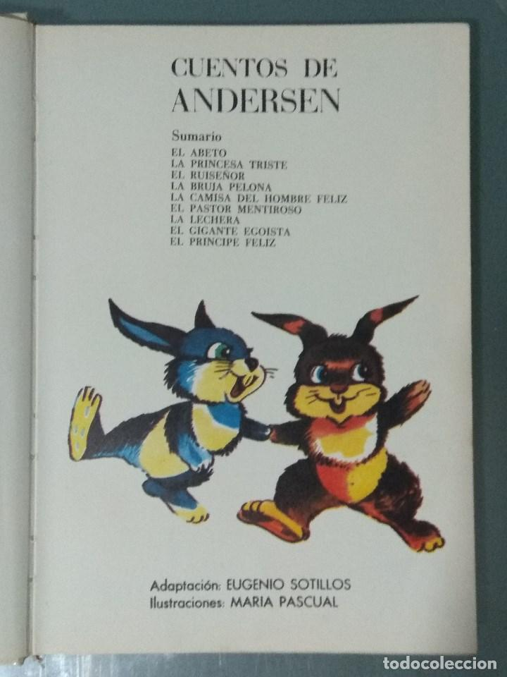 Libros: CUENTOS DE ANDERSEN. ILUSTRACIONES MARIA PASCUAL. Ed. Toray. 1974. - Foto 4 - 170451124
