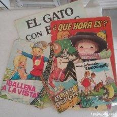 Libros: LOTE DE CUENTOS AÑOS 60 - 70, UNA JORNADA INOLVIDABLE, ¡BALLENA A LA VISTA!, EL REY PEREZOSO,.... Lote 174262073