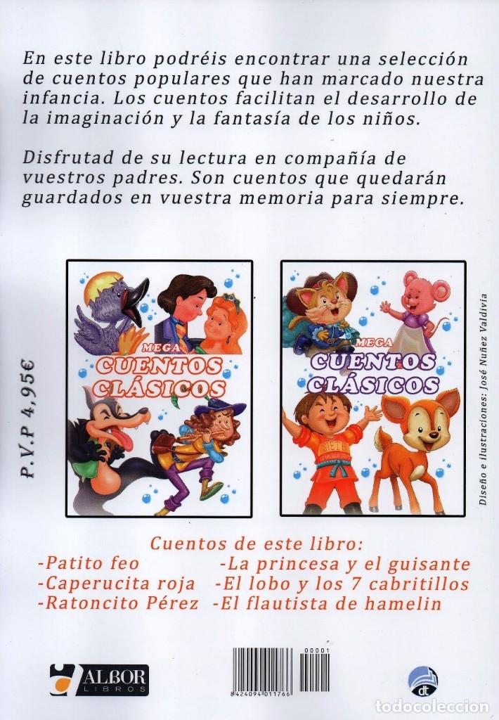 Libros: MEGA CUENTOS CLASICOS N. 1 - INCLUYE 6 CUENTOS CLASICOS (NUEVO) - Foto 2 - 183315812