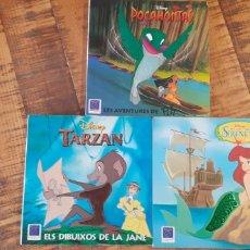 Libros: LA SIRENITA - TARZAN -POCAHONTAS - DISNEY. Lote 186264975