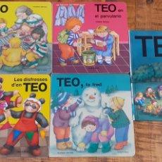Libros: TEO-FA FRED,TEO-TEO EN I LA FRUITA-TEO EN EL PARVULARIO-LES DOSFRESSES D'EN TEO-TEO VA DE CAMPAMENTO. Lote 186405990