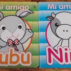 Libros: 2 LIBROS - MI AMIGO BUBU- MI AMIGA NINA. Lote 186407195