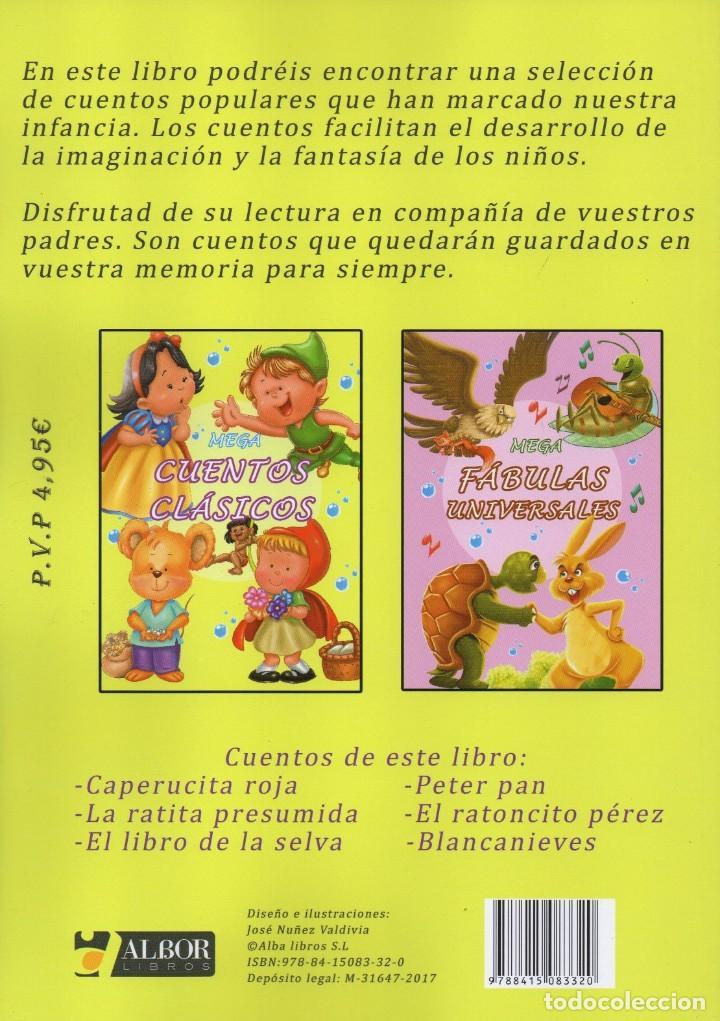 Libros: MEGA CUENTOS CLASICOS - CONTIENE 6 CUENTOS CLASICOS (NUEVO) - Foto 2 - 190207962