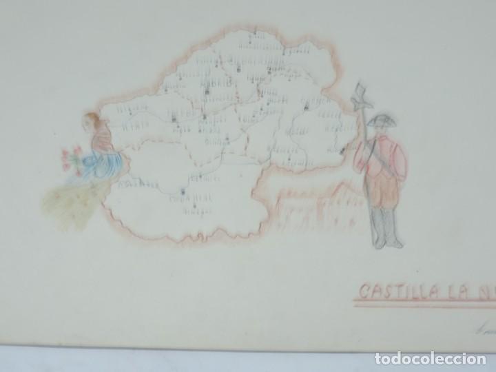 Libros: CUADERNO DE DIBUJOS AÑOS 40 EPOCA DE FRANCO DE NIÑA CON MAPAS ILUSTRADOS DE REGIONES ESPAÑOLAS, MIDE - Foto 6 - 191583195