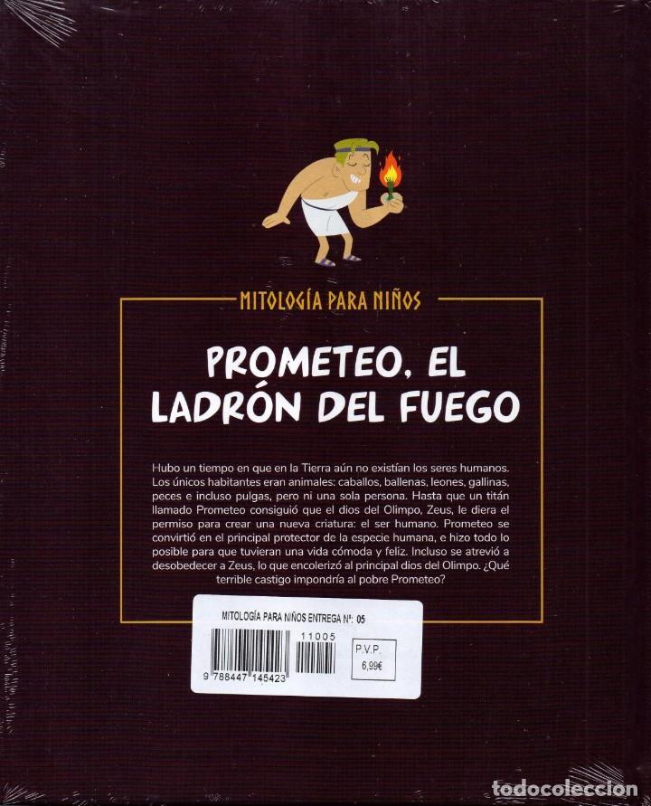 Libros: PROMETEO, EL LADRON DEL FUEGO - MITOLOGIA PARA NIÑOS N. 5 (PRECINTADO) - Foto 2 - 196456961