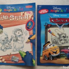 Libros: 2 MAGIC ARTIST, LILO& STICH Y CARS. DISNEY. Lote 196878826