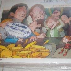 Libros: CINCO CUENTOS INFANTILES LIBRO +CD -CAPERUCITA ROJA- RICITOS DE ORO-EL TRAJE NUEVO DEL EMPERADOR+. Lote 205454580