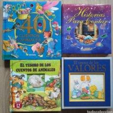 Libros: 4 LIBROS DE CUENTOS INFANTILES Y CLÁSICOS. Lote 205562905