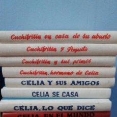 Libros: 6 LIBROS CELIA Y DE SU HERMANO CUCHIFRITIN. ELENA FORTUN. ED. SANTILLANA, AGUILAR. 2004. Lote 210778504