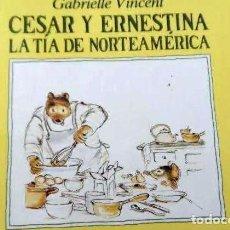 Libros: MI PRIMERA BIBLIOTECA VEO-VEO 1986 CESAR Y ERNESTINA LA TIA DE NORTEAMÉRICA. Lote 216834400