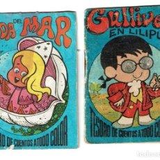 Libros: TESORO DE CUENTOS A TODO COLOR - LA HADA DEL MAR Y GULLIVER EN LILIPUT - EDITORIAL BRUGERA. Lote 220557017