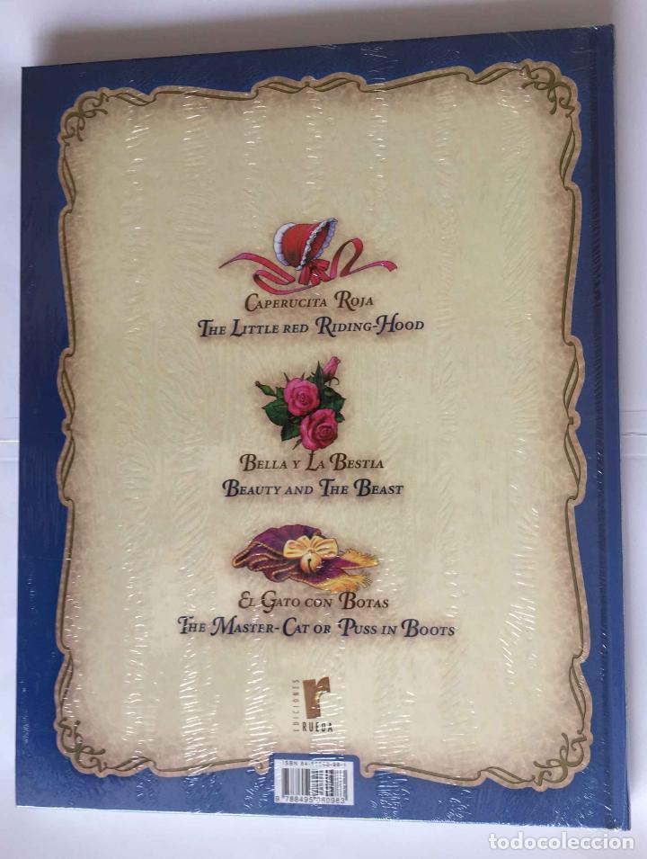 Libros: Libro CUENTA CUENTOS BILINGÜE: Caperucita Roja, Gato con Botas y Bella y Bestia (Rueda, 2004) Nuevo - Foto 2 - 222445201