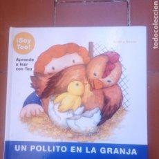 Livres: SOY TEO UN POLLITO EN LA GRANJA. Lote 222885257