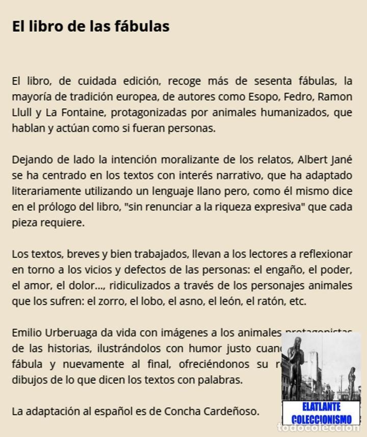 Libros: EL LIBRO DE LAS FÁBULAS - ADAPTACIÓN DE CONCHA CARDEÑOSO - ILUSTRACIONES DE EMILIO URBERUAGA - 18 € - Foto 6 - 234700290