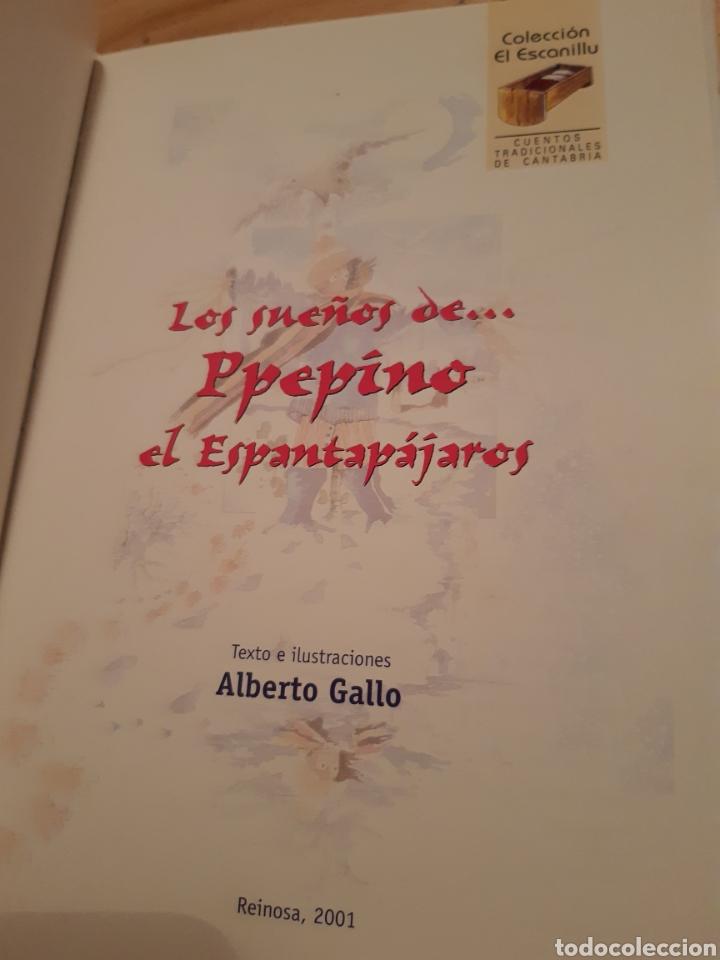 Libros: Los sueños de Ppepino el espantapájaros no 2,cuentos tradicionales Cantabria, colección Escanillu. - Foto 3 - 235176870