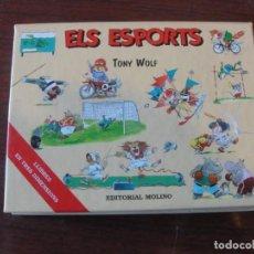 Libros: ELS ESPORTS / MOLINO - EN 3 TRES DIMENSIONS POP UP - TONY WOLF - SENSE US - ENVIAMENT GRATIS. Lote 237910765