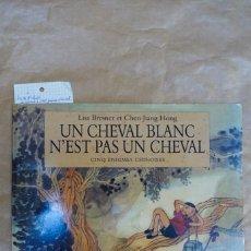 Libros: LISA BRESNER ET JIANG HONG.UN CHEVAL BLANC N´EST PAS UN CHEVAL. CINQ ENIGMES CHINOISES. Lote 240162900