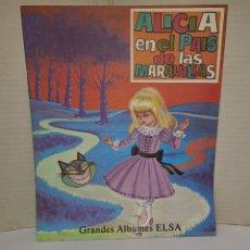 Libros: ALICIA EN EL PAÍS DE LAS MARAVILLAS. GRANDES ÁLBUMES ELSA. NUEVO. AÑOS 80. EDIT VASCO AMERICANA. EVA. Lote 243275995