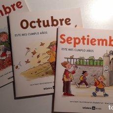 Libros: SEPTIEMBRE, OCTUBRE, NOVEMBRE. Lote 246156690