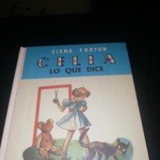 Livres: CELIA, LO QUE DICE. FORTÚN ELENA. Lote 248986090