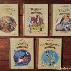 Livros: LOTE 5 CUENTOS DE ORO DISNEY (BAMBI, DUMBO, ALADDIN, BLANCANIEVES...) - SALVAT (PRECINTADOS). Lote 250124840